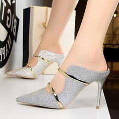 Kvinnor Tyg Stilettklack Pumps med Paljetter skor