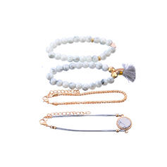 Fashionable Classic Alloy With Tassels Jewelry Sets Bracelets 4 PCS