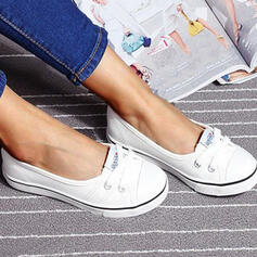 Διαμερίσματα Στρογγυλά παπούτσια Ολίσθηση Με Κέντημα-επάνω παπούτσια