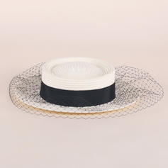 Dames Raphia paille Chapeau melon / Chapeau cloche/Chapeaux Tea Party
