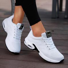 Femmes Tissu Talon plat Chaussures plates Low Top Tennis avec Dentelle Couleur unie chaussures