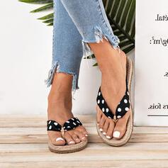 De mujer Tela Tacón plano Chancletas Pantuflas zapatos