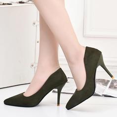Dla kobiet Zamsz Obcas Stiletto Czólenka Zakryte Palce obuwie