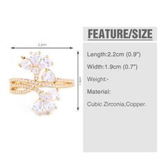 Unique Laiton Zircon de avec Zircon de Femmes Anneaux de mode