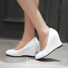 Femmes Cuir verni Talon compensé Escarpins Compensée avec Autres chaussures