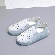 Mädchens Leder Flache Ferse Round Toe Geschlossene Zehe Flache Schuhe Blumenmädchen Schuhe