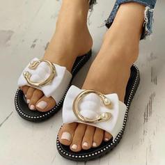 Dla kobiet PVC Płaski Obcas Sandały Plaskie Otwarty Nosek Buta Z Pozostałe obuwie