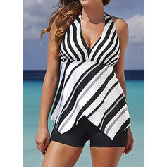 Halter Elegant Plus Size Tankinis Swimsuits