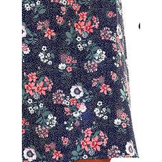 Estampado/Floral Manga Curta Shift Comprimento do joelho Casual/Férias Vestidos