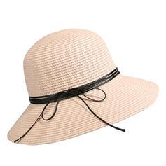 Señoras' Simple/Niza/Fantasía Papiro con Bowknot Sombreros Playa / Sol