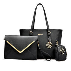 Classical/Refined PU Tote Bags/Bag Sets/Wallets & Wristlets