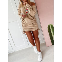 Sequins Long Sleeves Bodycon Above Knee Christmas/Casual Sweatshirt Dresses