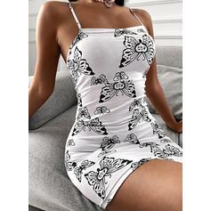 Animal Print Sleeveless Bodycon Above Knee Sexy Slip Dresses