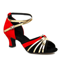 Women's Latin Sandals Suede With Hollow-out Latin