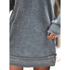 Nadrukowana/Kwiatowy Długie rękawy Koktajlowa Nad kolana Casual Bluza Sukienki