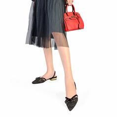 Women's Fabric Low Heel Closed Toe Slingbacks With Rhinestone shoes
