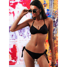 Underwire Triangle Halter Sexy Plus Size Bikinis Swimsuits