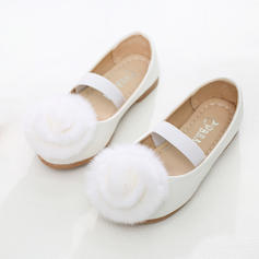 Girl's Leatherette Flat Heel Round Toe Flats Flower Girl Shoes