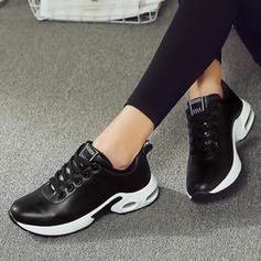 Mulheres Couro Casual Outdoor com Aplicação de renda sapatos