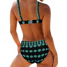 точка Низкая талия Ремень сексуальный красивая Милый Bikinis купальников