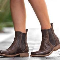 Női PU Lapos sarok Lakások Zárt lábujj Csizma Bokacsizma cipő