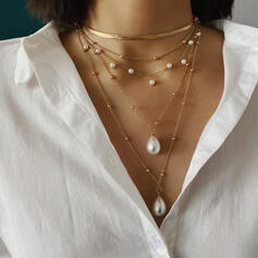 De moda Fresco Aleación con Perlas de imitación Collares