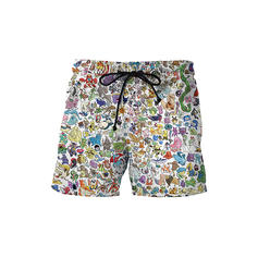 De Los Hombres Colorido Pantalones cortos Traje de baño