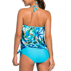 Solid Color Strapless Sexy Plus Size Tankinis Swimsuits