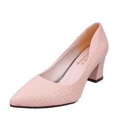 Femmes Similicuir Talon bottier Escarpins Bout fermé chaussures