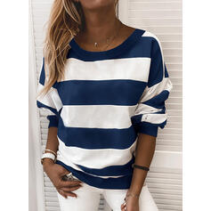 Couleurs Opposées Col rond Manches longues Sweat-shirts