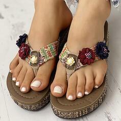 Pentru Femei PVC Fară Toc Şlapi între degete Şlapi pantofi