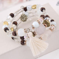 Classic Alloy Resin Women's Bracelets (Sold in a single piece)