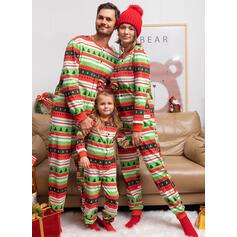 Letter Print Voor Gezinnen Kerst Pyjamas Pyjama