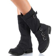Kvinnor Mocka Flat Heel Platta Skor / Fritidsskor Stövlar Halva Vaden Stövlar med Spänne skor