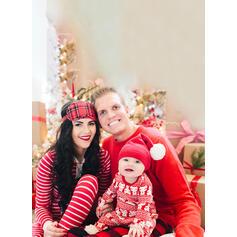 Bjørn Plaid Stribe Familie Matchende Jul Pyjamas