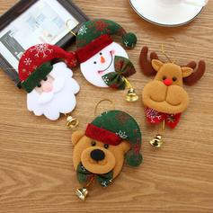 Boże Narodzenie Dzwon Tkanina Dekoracje świąteczne
