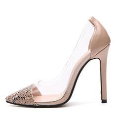 Women's Patent Leather Stiletto Heel Sandals shoes
