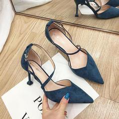De mujer Ante Tacón stilettos Salón Cerrados con Cordones zapatos