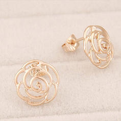 Flower Shaped Alloy Earrings