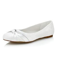 Femmes Dentelle Talon plat Chaussures plates avec Plissé