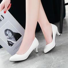 Femmes PU Talon stiletto Escarpins Bout fermé chaussures