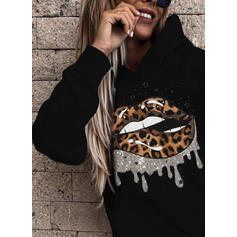 Print leopardi Pitkähihaiset Huppari