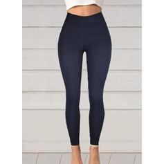Solido Taglia grossa Lungo Elegante Sexy Pantaloni Ghette