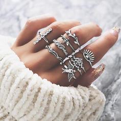 Exótico Liga Mulheres Anéis (Conjunto de 9)