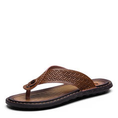 Men's Casual Microfiber Leather Men's Slippers