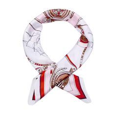 Geometrische Print Plein/lichtgewicht Vierkante sjaal