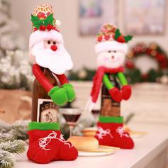 щасливого Різдва Сніговик Санта Неткане полотно Різдвяний декор Кришка пляшки
