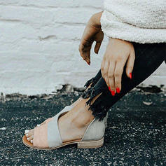 Femmes PU Talon plat Sandales Chaussures plates avec Autres chaussures