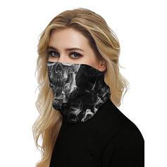 Respirável/Protetora/Cobertura total/Multifuncional/Sem Costura/Prova de poeira/Impressão do crânio Bandanas