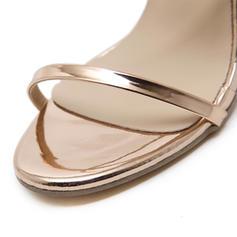 Donna Similpelle Tacco spesso Sandalo Punta aperta con Cerniera scarpe